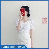 Áo Croptop nữ T-mon kiểu rút ngực eo bo tay bồng tôn dáng nàng dễ dàng phối đồ đi học đi chơi dự tiệc thumbnail