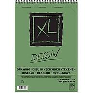 Giấy vẽ dành cho vẽ màu chì Canson XL Dessin 8k, 40 tờ, 160gsm thumbnail