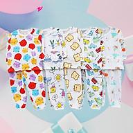 SÉT 5 Bộ cotton giấy dài tay mở khuy cho bé trai bé gái hàng Việt Nam chất lượng thumbnail