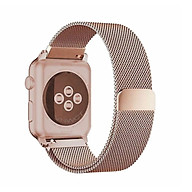 Dây đeo dành cho Apple Watch Milanese Loop màu vàng hồng cực hot thumbnail