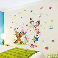 Decal dán tường trang trí phòng ngủ, lớp mầm non- Hà mã đánh đàn- mã sp DXL8216 thumbnail