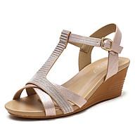 Giày quai ngang nữ giày sandals nữ dép quai hậu nữ cao 5 cm - DQH.320-97A thumbnail