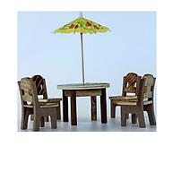 Mô hình bộ bàn ghế mini độc đáo - Chất liệu gỗ an toàn thân thiện - Đồ trang trí, quà tặng độc đáo dành cho bé thumbnail