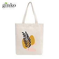 Túi Tote Vải Mộc GINKO Dây Kéo In Hình Minimalism Art M16 thumbnail