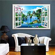 Tranh dán tường cửa sổ 3D trang trí phòng khách, phòng ngủ, phòng ăn SƠN THỦY HỮU TÌNH đã có sẵn keo dán 1721L11 thumbnail