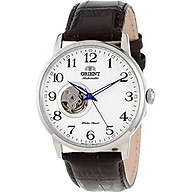 Orient Men s FDB08005W Esteem Stainless Steel Watch with Brown Leather Band thumbnail