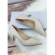 Giày cao gót công sở 7cm, miệng xéo gót mới MT121 thumbnail