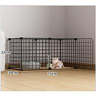Chuồng chó mèo_ chuồng quay lắp ghép, thiết kế lưới tĩnh điện đa năng, tiện dụng, dễ dàng lắp ráp và sử dụng - 75 39 37 cm thumbnail