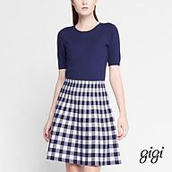 GIGI - Đầm mini cổ tròn tay ngắn Checked Skirt G21061202707-30 thumbnail
