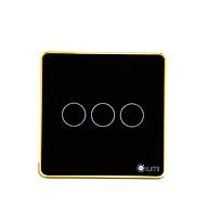 Công tắc cảm ứng chữ nhật 3 nút nguồn 1 dây Lumi LM-S3L - Đen - Hàng chính hãng thumbnail