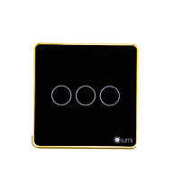 Công tắc cảm ứng chữ nhật điều khiển cửa cuốn Lumi LM-S3D - Đen - Hàng chính hãng thumbnail