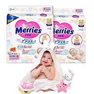 Combo 2 Tã Dán Merries NB90+6 tặng khăn tắm sợi tre hình thỏ đáng yêu và đồ chơi tắm Toys House thumbnail