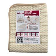 Tấm lót chống thấm cho bé Organic Good Cotton Babyup. Miếng lót chống thấm 4 lớp, mềm mại, thoáng khí, siêu thấm hút, có thể giặt - 70 x 120 cm thumbnail