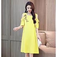 Đầm bầu váy bầu suông đính hoa dn19110421 thumbnail