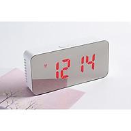 Đồng hồ mini để bàn có hẹn giờ, báo thức, đo nhiệt độ, mặt tráng gương- giao màu ngẫu nhiên thumbnail