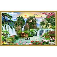 Tranh dán tường phong thủy Sơn Thủy Hữu Tình NewTM-0143K thumbnail