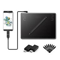 Bảng vẽ cảm ứng H-430P - 4096 mức cảm ứng lực nhấn, Bút không pin - Bảng Vẽ Đồ Họa Kỹ Thuật Số 430P Dùng Cho Điện Thoại Android và Máy Tính Kèm 02 Đầu OTG và 08 Ngòi Bút Thay Thế thumbnail