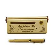 Bút gỗ bi nước cao cấp làm quà tặng ngày Valentine (Kèm hộp đựng sang trọng) thumbnail