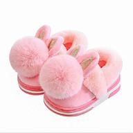 Giày bốt cho bé gái và bé trai giày giữ ấm thỏ con, gấu con xinh xắn thumbnail