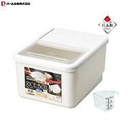Thùng đựng gạo Pearl Metal 10kg kèm cốc đong với thiết kế nắp bật thông minh tiện lợi - xuất xứ Nhật Bản thumbnail