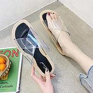 Dép Nhựa Nữ 3Fashion Quai Chéo Nhựa Trong Sành Điệu Chồng Thấm Nước - 3206N thumbnail