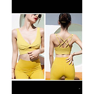 Bộ áo quần thể xoắn ngực có mút sẵn tập Gym, yoga B006 thumbnail