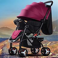 Xe đẩy cho bé, xe đẩy em bé, Xe đẩy trẻ em 2 chiều 3 tư thế, xe đẩy du lịch, xe đẩy gấp gọn TẶNG NGAY BỘ ĐỒ CHƠI NÚM GỖ CHO BÉ CHỦ ĐỀ NGẪU NHIÊN thumbnail