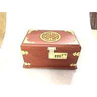 Hộp đựng trang sức chữ thọ có mã khóa BH648 thumbnail