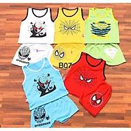 Combo 5 bộ quần đùi áo sát nách họa tiết siêu nhân nhện spiderman cho bé từ 3-14kg thumbnail