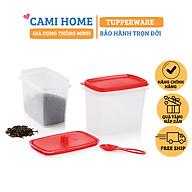 Hộp bảo quản thực phẩm, hộp đựng gia vị nhựa nguyên sinh cao cấp, hộp trữ thực phẩm Tupperware MnH thumbnail