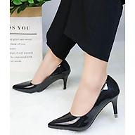 Giày cao gót đi tiệc mũi nhọn da bóng sang trọng V017097 thumbnail