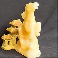 Tượng Phong Thuỷ Tuổi Ngọ - Ngựa 12 Con Giáp Đá Ngọc Hoàng Long - 8cm - Mx - Hợp Mệnh Thổ, Kim thumbnail