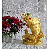 Cá chép vàng nhả Ngọc Châu phong thủy đại cát - CCVD34 thumbnail
