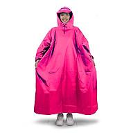 Áo mưa bít người vải dù tổ ong cao cấp freesize - Hồng thumbnail