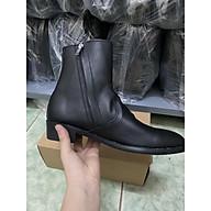 Giày da-zip boots da bò đế cao su thumbnail
