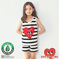 Đồ bộ sát nách cotton mặc nhà mùa hè cho bé gái Unifriend Uni0920 size 2-10 tuổi thumbnail