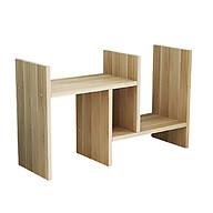 Kệ sách gỗ mini Nhà của Mẹ 60x35x12cm, 5 ngăn tiện dụng, thiết kế 2 chữ H lồng vào nhau, màu sắc giao ngẫu nhiên - HÀNG CHÍNH HÃNG thumbnail