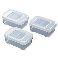 Set 3 hộp đựng đồ ăn dặm cho bé nắp dẻo 190ml tặng 2 zipper 10cm thumbnail