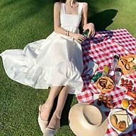 Váy Nữ Đẹp Đầm Maxi Dài HAi Dây Thắt Nơ Lưng Xinh Tươi Cùng Chất Vải Mềm Rủ Tôn Dáng Gợi Cảm. thumbnail