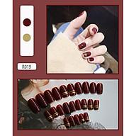 Bộ 24 móng tay giả (R039 ) tặng kèm thun lò xo cột tóc màu đen tiện lợi thumbnail