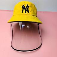 Mũ bucket có tấm chắn trong suốt phòng dịch bệnh, khói bụi, mũ bảo hộ thời trang thumbnail