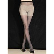 Shiny Mesh Black Silver Silk Pantyhose QYPF017 thumbnail