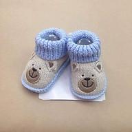 Giày len carter xinh cho bé 0-6m - màu ngẫu nhiên thumbnail