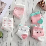 Combo 5 đôi vớ hồng cho bé gái thumbnail