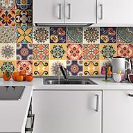 Cuộn 120cm decal gạch bông trang trí dán bếp dán tường - mã SET3A thumbnail