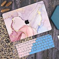 Case ốp nhựa ABS bảo vệ dành cho macbook đủ dòng siêu mỏng nhẹ không nóng máy hoạ tiết vân đá cẩm thạch màu hồng kèm phủ phím silicon - Hàng chính hãng thumbnail