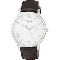 Tissot Men s T0636101603800 Tradition Analog Display Swiss Quartz Brown Watch thumbnail