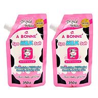 Bộ 2 Túi Muối Tắm Sữa Bò Tẩy Tế Bào Chết A Bonne Spa Milk Salt Thái Lan (350g Túi) thumbnail