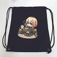 Balo dây rút đen in hình VIOLET EVERGARDEN anime BÚP BÊ KÍ ỨC túi rút đi học xinh xắn thời trang thumbnail