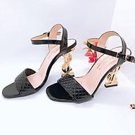 Giày Cao gót chữ S ánh vàng phong cách sành điệu thumbnail